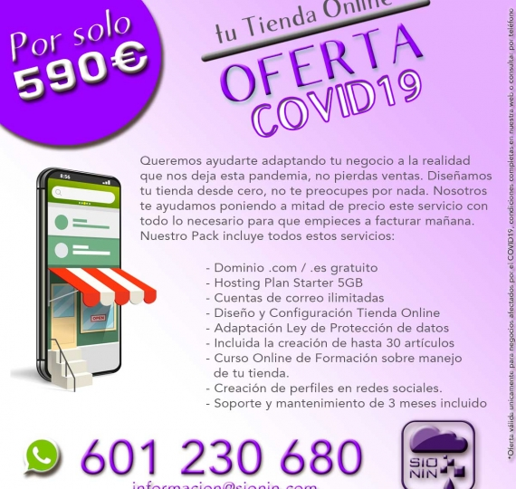 "Oferta ""Tu tienda online COVID19"""